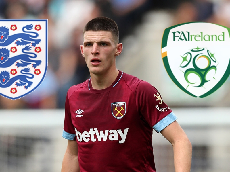 Awkward! England's Declan Rice wins Ireland's Young Player of the Year award