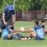 Zulham dan Rizky Pora terlihat akrab saat latihan.