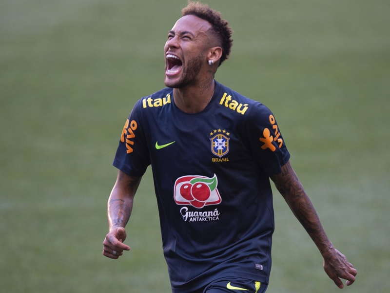 VIDEO: Neymar scores training wondergoal and celebrates like Cristiano Ronaldo