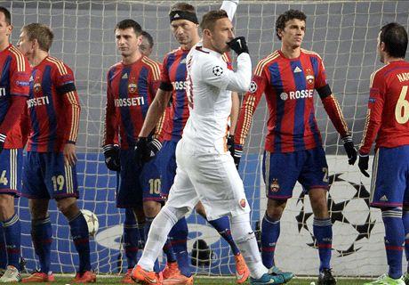 Champions: CSKA 1-1 Roma