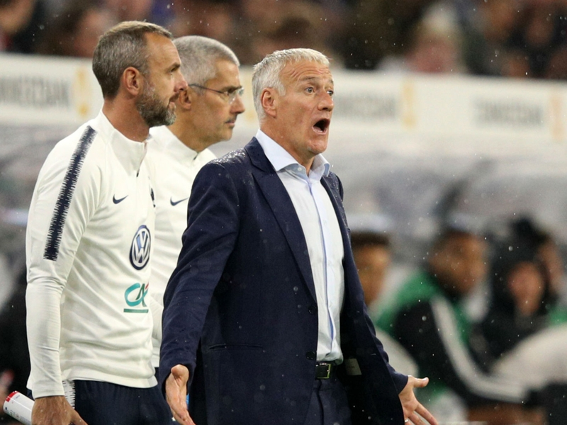 Deschamps admits that France made errors in Germany blank
