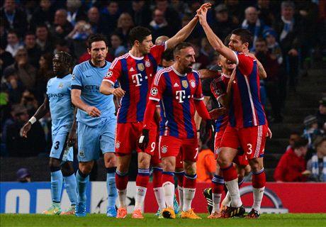 Ten-man Bayern bite back - LIVE