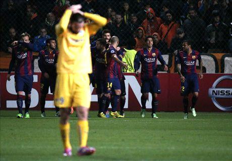 Live: APOEL 0-3 Barcelona