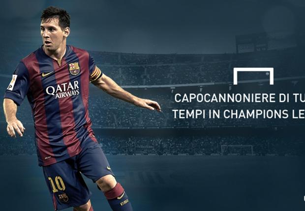 Messi, bomber da record in Champions