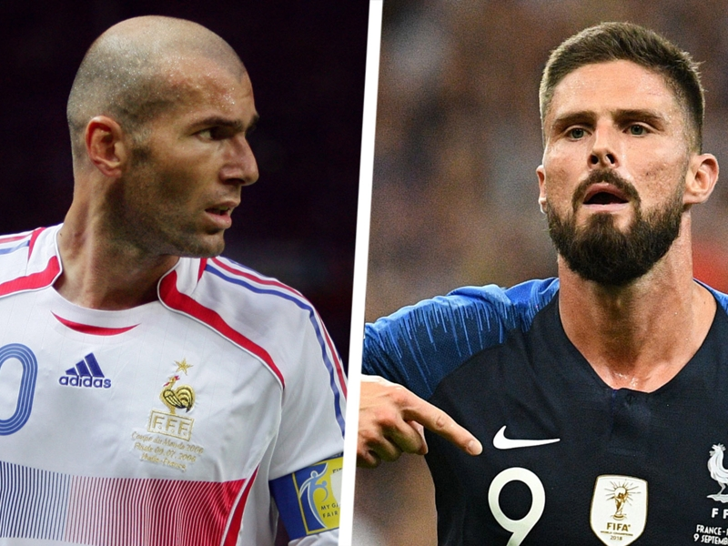 Giroud overtakes Zidane on France's list of greatest goalscorers