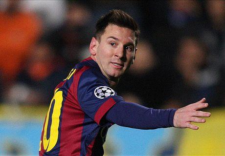 Messi beats Ronaldo to Raul's record