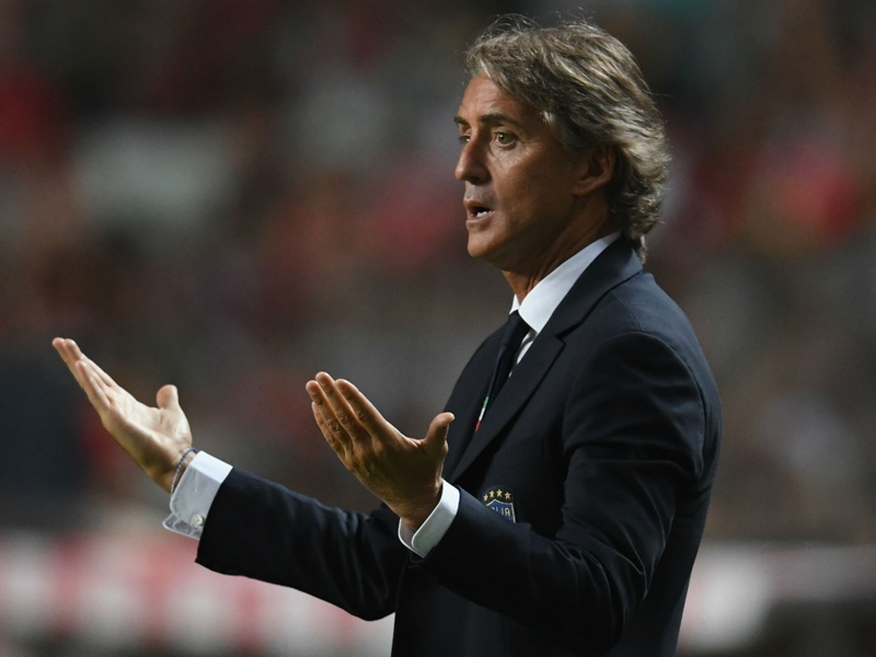Mancini demands more from Italy forwards after Portugal loss