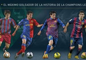 Lionel Messi se convirtió en el máximo goleador de la historia de la Champions y acá hacemos un repaso desde su debut