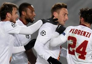 I giocatori della Roma a Mosca