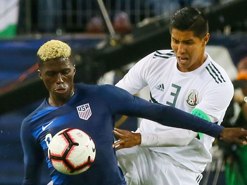 Adams goals lifts USA over Mexico