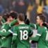 Los jugadores del Athletic celebran el gol de la victoria