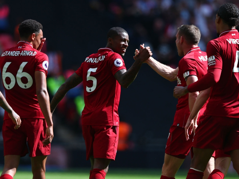 Wijnaldum breaks remarkable goal run with Liverpool opener at Wembley