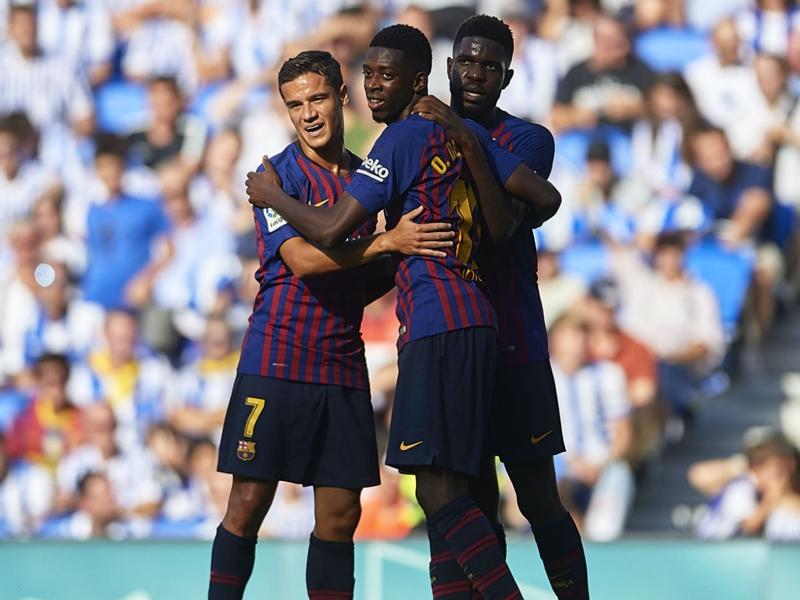 Real Sociedad 1 Barcelona 2: Suarez and Dembele maintain perfect start