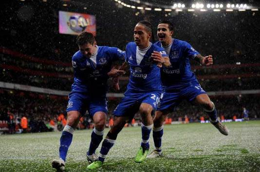 EPL: Steven Pienaar, Arsenal - Everton (Getty Images)