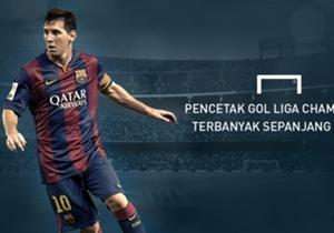 Lionel Messi kini menjadi pemain tersubur dalam sejarah Liga Champions. Bagaimana perjalanan bocah asal Rosario ini menjadi penyerang paling ganas di panggung terelite Eropa?