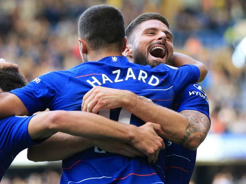 'Giroud the world's best target man' – Hazard heaps praise on Chelsea striker