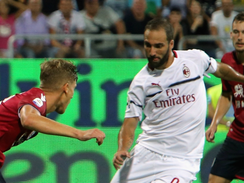 Cagliari 1 AC Milan 1: Higuain's first Rossoneri goal earns a point