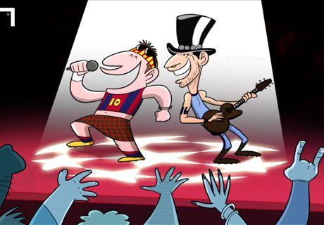 Leo y el Kun, un canto a la Champions