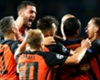 Shakhtar Donetsk celebrate a goal from Ismaily.