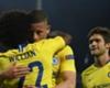 Chelsea celebrate Willian's goal