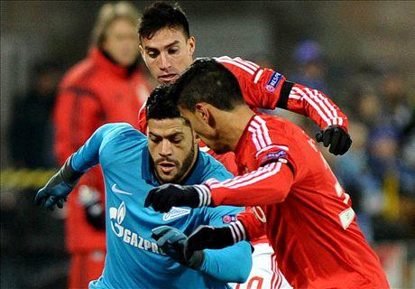 Résumé de match, Zenit-Benfica (1-0)
