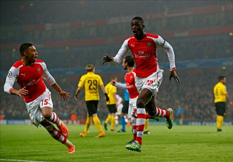 Sanogo & Alexis see Arsenal through