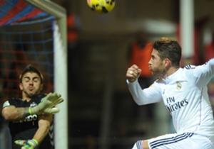 Sergio Ramos en el partido frente al Eibar