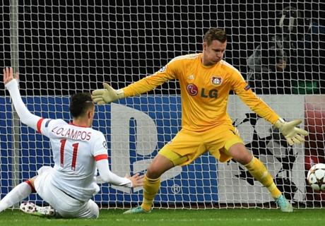 Leverkusen thwarted by Ocampos strike