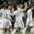 Cristiano Ronaldo e compagnia dopo un goal Real
