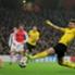 immobile in azione contro l'Arsenal