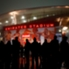 Fans head to the Emirates Stadium in anticipation of a big night of European football