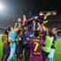 El Barça festejó el récord de Messi