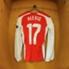 La camiseta de Alexis en el camarín.