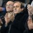 Michel Platini, le président de l'UEFA, est venu assister au match de Guingamp contre la Fiorentina