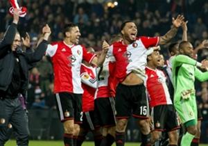 Sevilla kassierte ein 0:2 bei Feyenoord Rotterdam.