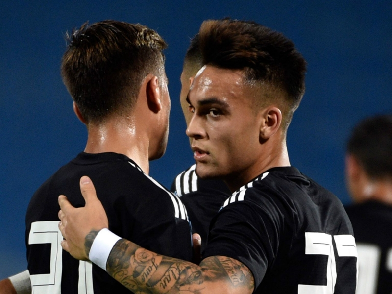 Inter's Lautaro Martinez thrilled with debut Argentina goal