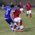 Evan Dimas dan Boaz Solossa mengukir gol internasional perdana ke gawang Laos.