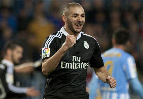 Real Madrid le ganó con lo justo a Málaga
