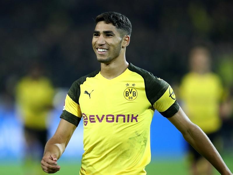 Borussia Dortmund's Hakimi aims to emulate Real Madrid's Dani Carvajal