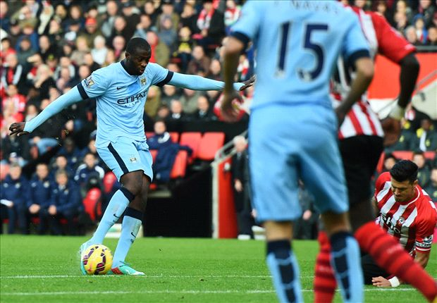 Southampton 0-3 Manchester City: 10-man Blues go second