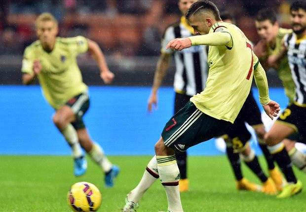 AC Milan 2-0 Udinese: Menez double ends Rossoneri's winless run