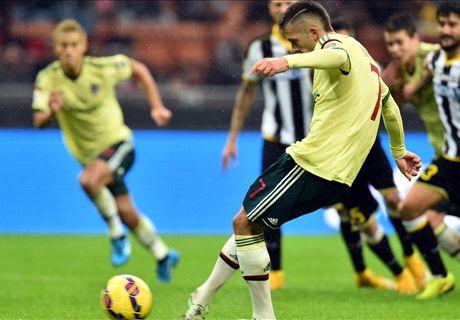 AC Milan 2-0 Udinese: Menez double