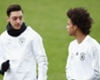 Mesut Ozil and Leroy Sane in training for Germany