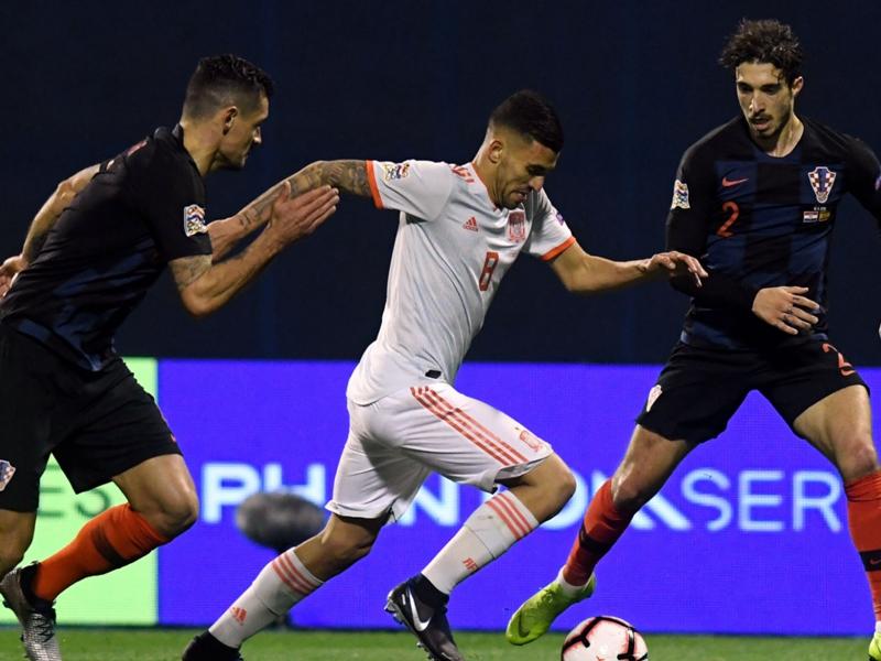 Croatia stuns Spain late on Jedvaj winner