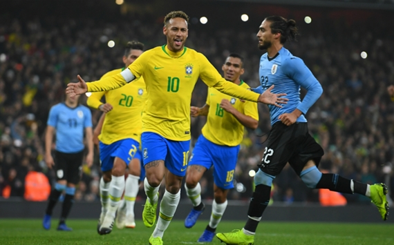 Neymar Brazil v Uruguay Friendly 16112018