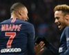 Kylian Mbappe and Neymar celebrate for PSG