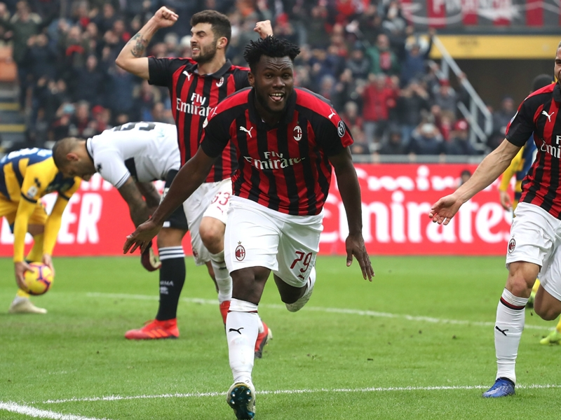 AC Milan 2 Parma 1: Kessie penalty completes comeback
