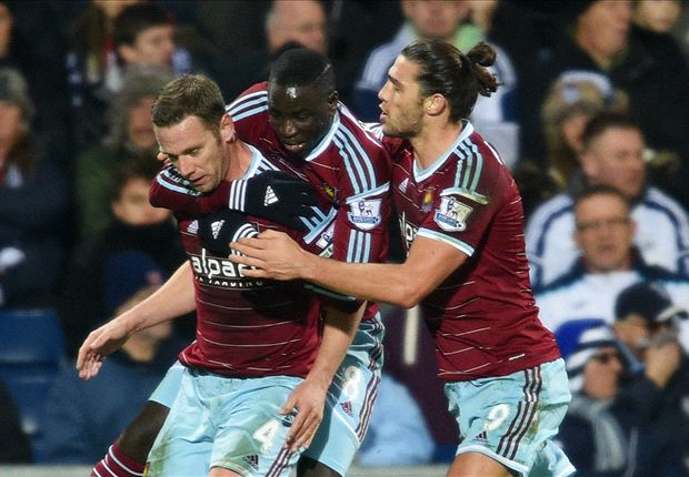 West Brom 1-2 West Ham: Tomkins & Nolan strike as Hammers come from behind