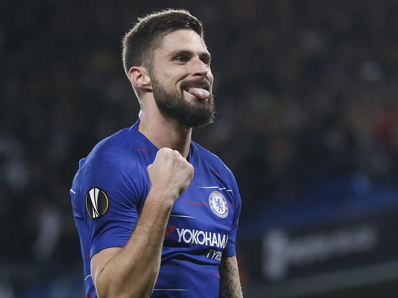 Un sublime coup franc de Giroud offre le nul à Chelsea face à Vidi
