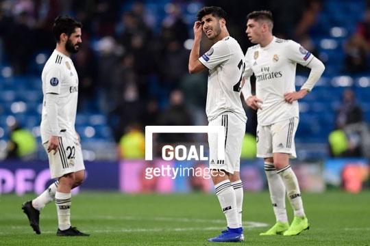 Le groupe du Real Madrid contre le Rayo